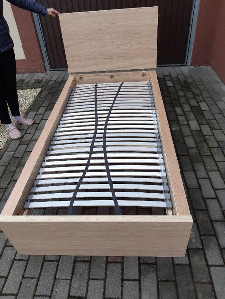 Łóżko 90x200 ze stelażem oraz materacem