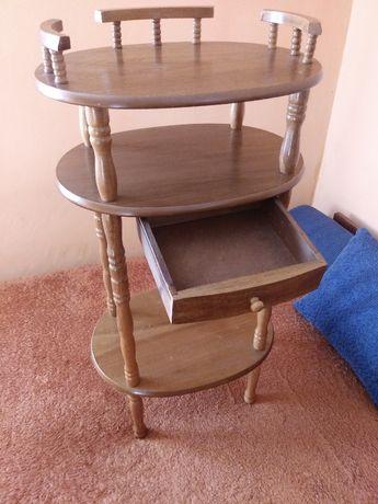 Etażerka wysoki stolik z szufladką