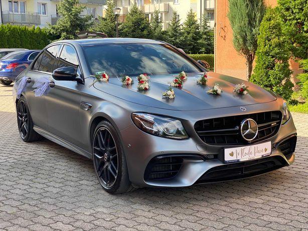 Samochód Auto Limuzyna do ślubu Mercedes E 63 AMG 612KM.