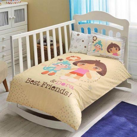 Комплекты постельного белья в кроватку , производство Турция