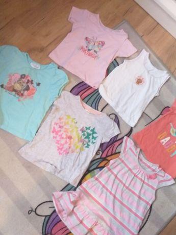 Koszulki paka zestaw rozm 80 9-12msc koszulka lato