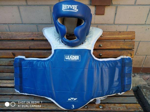 Защита (жилет) и шлем для тхеквондо