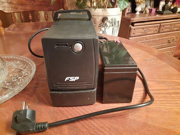 Бесперебойник FSP + аккумулятор MHB Battery MS9-12 (12V9Ah/20HR)