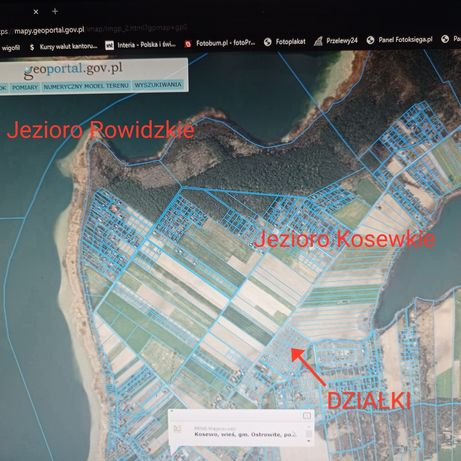 Działki letniskowe pomiędzy jeziorem Kosewskim i Powidzkim