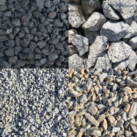 Kora kamienna gnejs dalmatyńczyk, Grys bazaltowy czarny kamień ozdobny