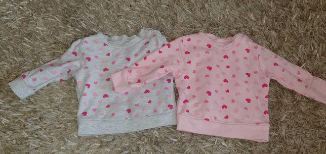 Bluzy dwupak dziewczynka