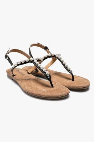 Sandały Tamaris 38 skóra jak nowe