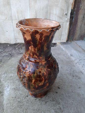 Duzy wazon gliniany PRL