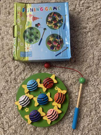 Детская игрушка рибалка деревяная от 3 лет