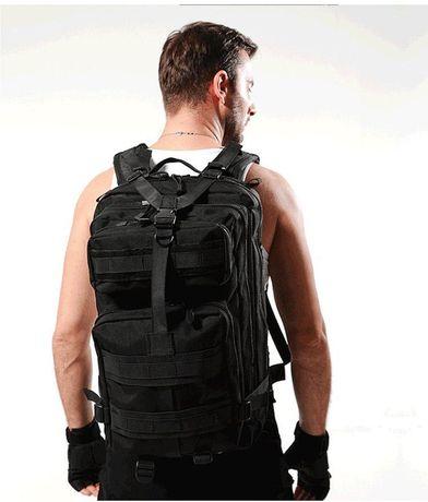 Черный тактический рюкзак, походный, мужской 25 литров