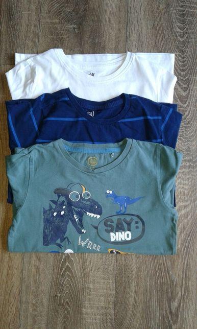 Bluzki dla chłopca 110/116 h&m smyk