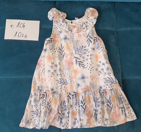 Letnia sukienka rozmiar 104 Smyk sukienka na lato