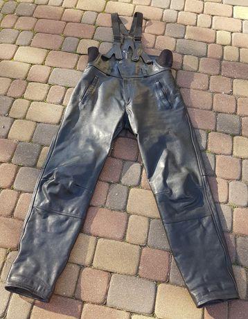 Spodnie skórzane, motocyklowe.
