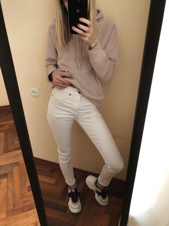 Белые джинсы скини Zara , Top Shop