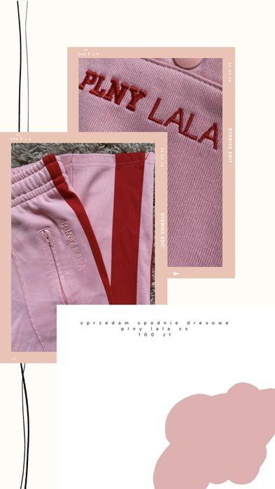 Spodnie dresowe dresy PLNY LALA różowe lampasy XS S Izbicko - image 1