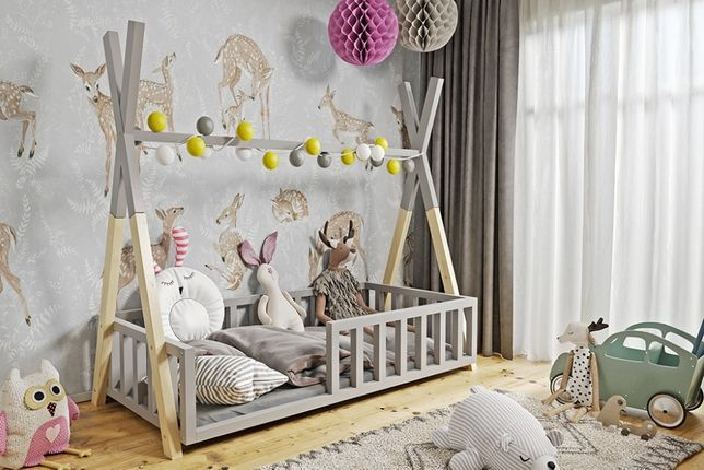 Nowe łóżko dla dzieci TIPI + materac i stelaż! Z szufladą bądź bez!
