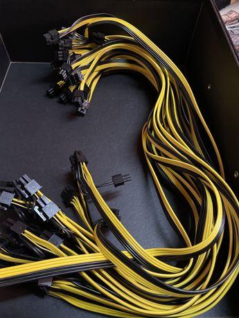 Cabos Pcie 70cm | Mining | PCI-E 6 para 6+2p | ENTREGA NO DIA