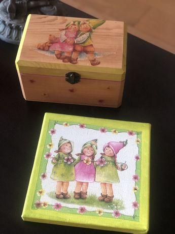 Caixa e Quadro de decoração