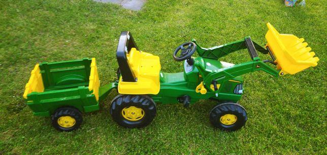 Traktor na pedały z przyczepą John Deere Junior