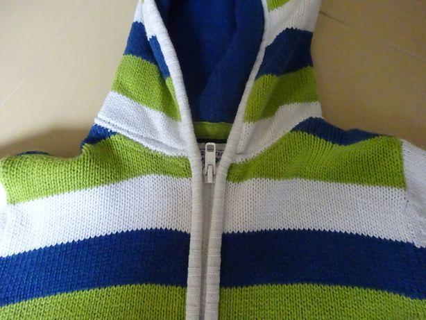 casaco de malha zippy 4-5 anos