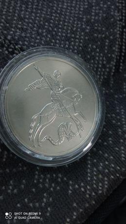 3 рубля 2010 Георгий Победоносец серебро оригинал