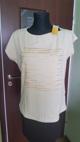 Koszulka damska Bluzka bawełniana T-shirt z krótkim rękawem rozmiar L