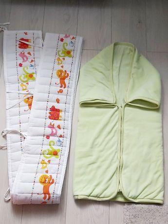 Ochraniacz na łóżeczko IKEA, śpiworek/otulacz