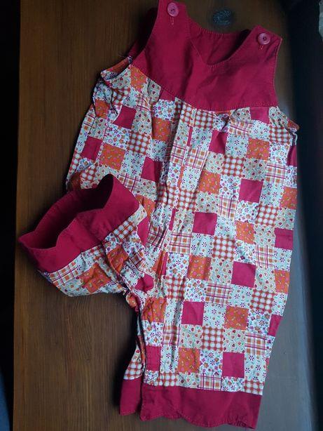Paka 5 rzeczy 3-6 mcy sweterek body pajac pólspiochy spodenki