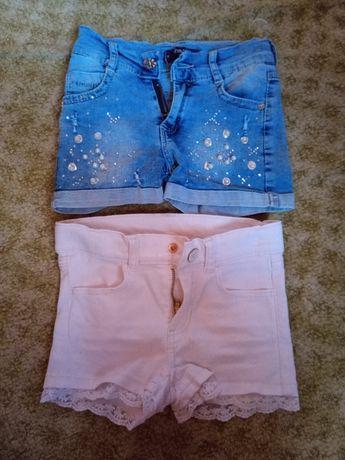 Джинсовые шорты для девочки. 3 года. 2шт.