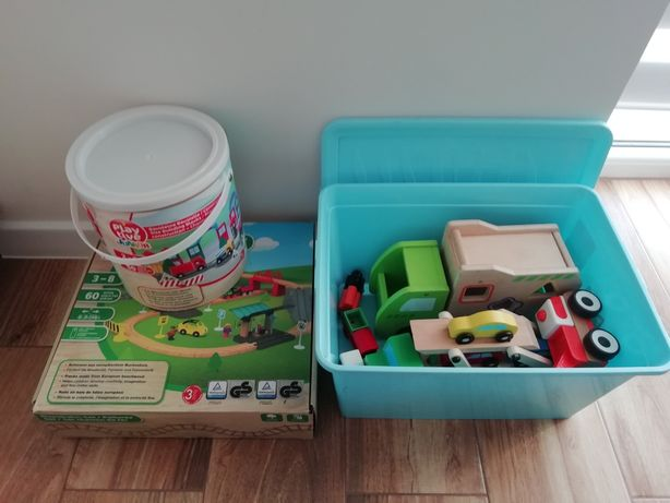 Playtive kolejka budowa laweta śmieciarka ikea