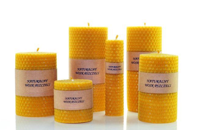 Świeczka z Wosku pszczelego -100 % Świeca Naturalny Wosk Pszczeli WĘZA