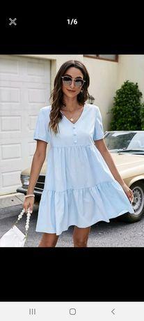 Sukienka letnia błękitna rozmiar L nowa