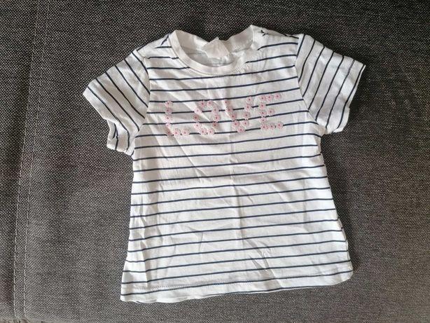 Bluzeczka H&M nowa 68 dla dziewczynki paseczki love