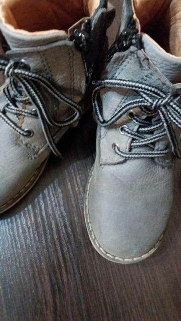 Кожанные демисезонные ботинки