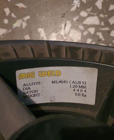 Drut spawalniczy aluminiowy 1.2mm, ALSI 5, 6kg, Nowy