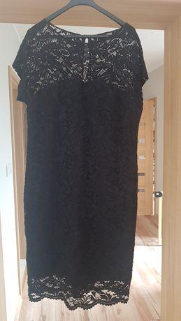 Sukienka czarna koronka r. 42