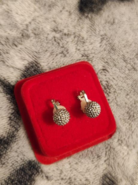 Kolczyki SREBRO piękne srebrne klipsy