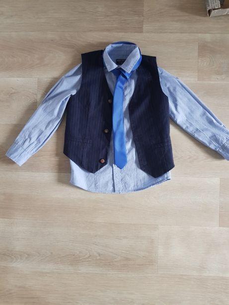 C&A komplet koszula kamizelka krawat