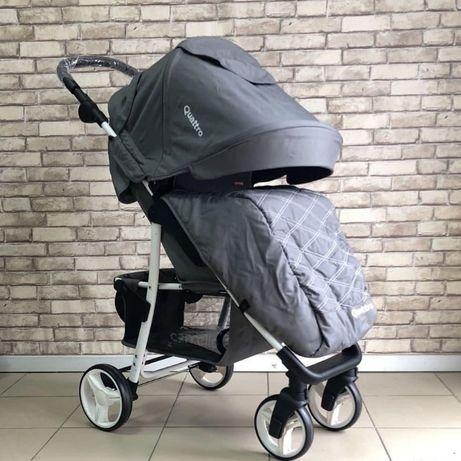 Детский прогулочная коляска Carrello Quattro (CRL-8502/3) с дождевиком