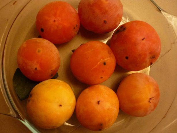 marmelos, uva morangueira, diospiros