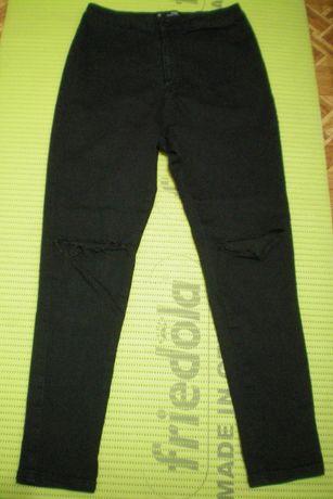 Джинсы рваные с дырками на коленях с разрезами штаны брюки скинни