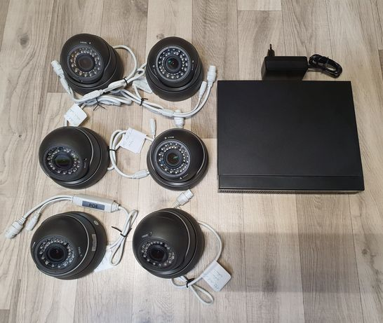 Kamery IP 6szt APTI 3mpx + rejestrator z HDD 4TB