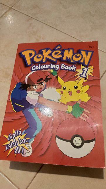 Livro para colorir Pokémon Colouring Book Pokemon Nintendo