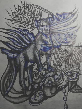 Projekt tatuażu Czarna Pantera