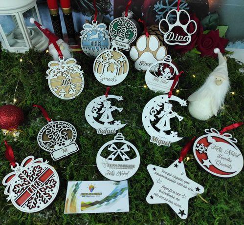 Ornamentos de Natal com nome vários modelos 30% desconto!