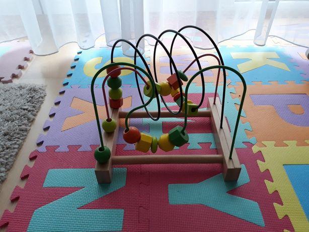 Zabawka edukacyjna - drewniane kulki