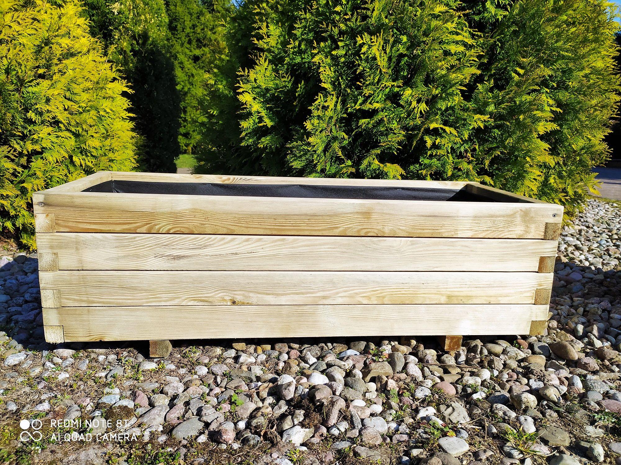 Donica drewniana skrzynia z drewna doniczka 100x40 HIT!!! KURIER