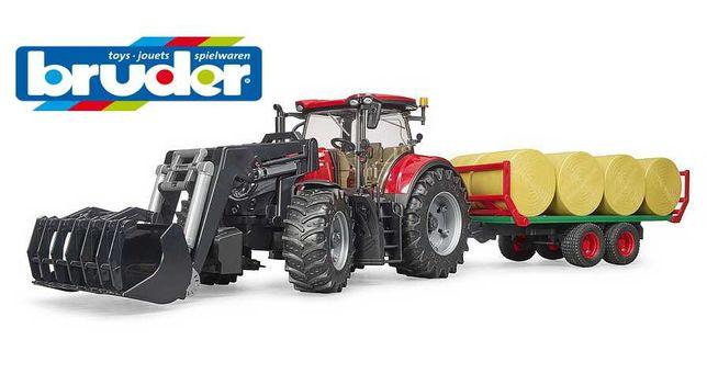 Трактор Case IH Optum 300CVX с прицепом для тюков Bruder Брудер) 03198