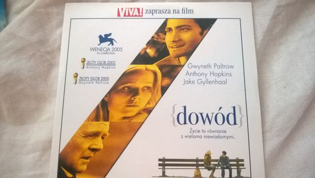 Dowód DVD film Gwyneth Paltrow Anthony Hopkins Jake Gyllenhaal