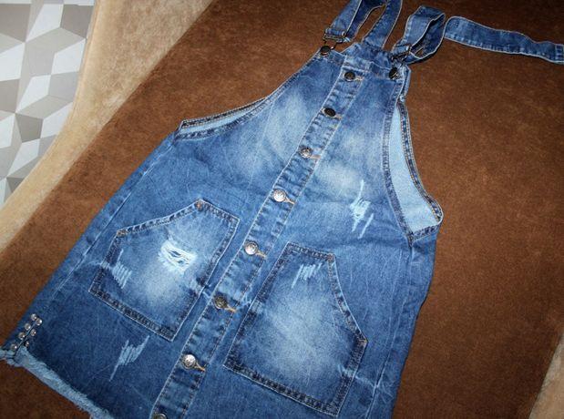 комбинезон джинсовый сарафан XS_S размер